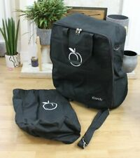GENUINE ICANDY PEACH BLACK TRAVEL BAG INCLUDES WHEEL BAG AND CARRY STRAP