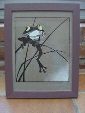 cadre résine reproduction dessin Loisel grenouille faux bois à poser suspendre