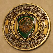 Supreme Headquarters Allied Powers Europe SHAPE Gen James L Jones Challenge Coin