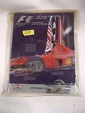 SAP United States Grand Prix Formula One Daytona Program, Mint! September 2000