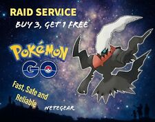 Pokémon Go DARKRAI RAID✔CHANCE SHINY✔GUARANTEED CATCH✔ Buy 3, One FREE