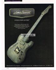 2011 JAMES TRUSSART Steeltopcaster Guitar Vtg Print Ad