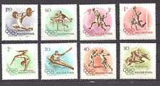 HUNGARY , 1956 , 1956 OLYMPICS , SPORTS , SET OF 8 , PERF , VLH