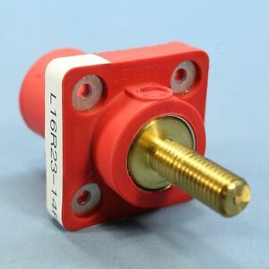 "Leviton Red Cam Receptacles Male 1.50"" Stud Plug 16 Series 400A Bulk 16R23-14R"