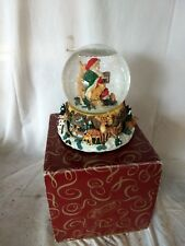 San Francisco Music Box Snow Globe Santa Claus Lane Spiral Staircase Christmas