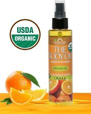 NEW!  USDA Certified Organic Body & Bath Oil - Orange, 5 oz. BOOA051