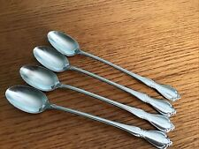 "Oneida Chateau Iced Tea Spoons Set Of 4 Deluxe Stainless 7 1/2"" P080"