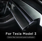 Carbon Fiber Style ABS Central Control Dashboard For Tesla Model 3 Y 2017 2021