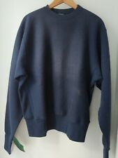 Camber Heavyweight Cross Knit Crew Neck Sweatshirt Navy Small NEW WITH DEFECT