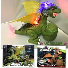 BATTERY OPERATED DINOSAUR TOY ROARING SOUND LIGHT WALK GREAT X- MAS GIFT IDEA !