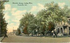 1912 Riverside Avenue Looking West, Evansville, Indiana Postcard