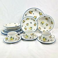 16 PC ODDLOT STUDIO NOVA SUNSHINE VALLEY DINNERWARE ORANGE LEMON 4 PLACE SETTING