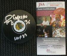 Tony Esposito Signed Chicago Blackhawks Puck Jsa Certified Coa Dd11487