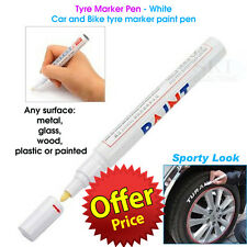 Tyre Marker Pen - White Color - Car and Bike tyre marker paint pen, Sporty look