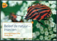 NEDERLAND: PZM 578A/B BELEEF DE NATUUR INSECTEN. (ZELFKLEVEND).