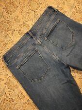 Gap Women's Designer Blue Jeans Size 10/30r GirlFriend Cut Off Cuffs Cute Casual