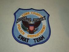 Cobb County Georgia Police Department Swat Team Eagle Seal Iron On Patch