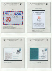 Soccer 1978 D96 Germany Poland 4 Covers / Postcards SC Football Sport