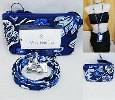 Vera Bradley Zip ID Case and Lanyard Tropics Tapestry Set Badge Holder Work New