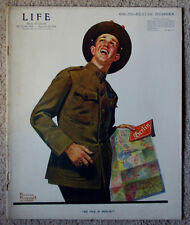 Life Magazine Norman Rockwell WWI Cover, Sept. 26, 1918 Issue. HTF in Good Shape