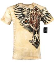 XTREME COUTURE by AFFLICTION Men T-Shirt LOCKDOWN Tatto Biker MMA GYM S-4X $40