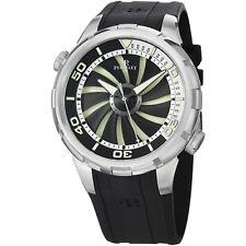 Perrelet Men's Turbine Diver Black Dial Rubber Strap Automatic Watch A1066/1