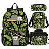 Cute Sloth Baby kids Backpack Set Schoolbag Insulated Lunch Bag Pen Case Lot
