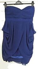 Ladies Royal Blue Bandeau Style Dress with Sweetheart Neck Size L By TFNC