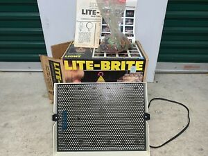 LITE-BRITE by Hasbro Vintage Childrens Toy w Original Box Pegs Light Bright 1981