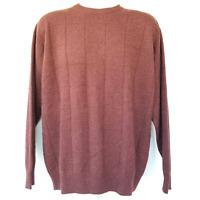 joseph & lyman Limited Collection Men's Cashmere Crewneck Sweater Brown Medium