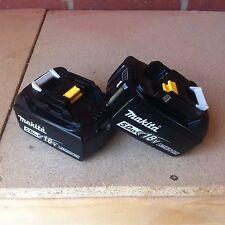 Makita 18v batteries 2 X 5.0ah *brand new & GENUINE