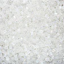 Miyuki hexagonal Corte Japonés Semilla Cuentas Talla 8/0 (3 mm) Cristal AB 12g (Q12/1)