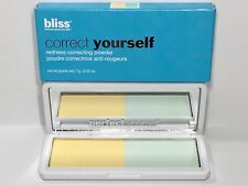 Bliss Correct Yourself Redness Correcting Powder New In Box