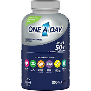 One A Day Men's 50+ Complete Multivitamin, 300 Tablets
