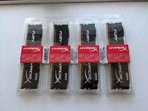 HyperX HX421C14FB2/8 (4x8gb) DDR4 Modules - AMD & Intel - Fury / Black - 32Gb