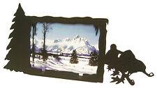 "Snowmobile Single Photo Black Metal Picture Frame 3.5""x5"" - 3""x5"" H"