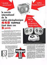PUBLICITE ADVERTISING 054  1960  TEPPAZ  éléctrophone tourne disques