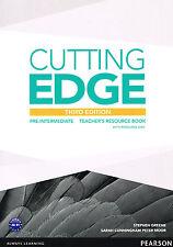 CUTTING EDGE Pre-Intermediate THIRD EDITION Teacher's Book w Resource Disc @NEW@