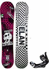 NEW $700 Mens Elan Matrix Skulls Snowboard 150CM + 5TH Element Bindings package