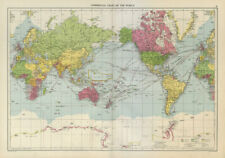 World Commercial Chart shipping routes. Commonwealth/French Union LARGE 1952 map
