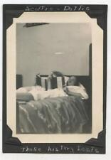 College Girls Lying In Bed Studying Books Smoking Cigarettes Dreamy 1945 Photo