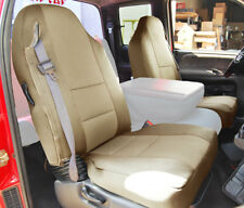 DODGE RAM 1998-2002 BEIGE S.LEATHER CUSTOM MADE FIT FRONT SEAT COVER
