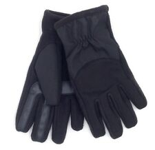 $197 ISOTONER Men BLACK KNIT LEATHER SMART TOUCH THERMAL WINTER GLOVES SIZE M