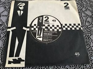 """THE BEAT ,TEARS OF A CLOWN ,7"""" SINGLE, 2TONE LABEL , PAPER LABELS. 2TONE SLEEVE"""
