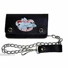 Biker/ Trucker Leather Live to Ride Chain Wallet