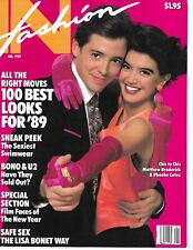 MATTHEW BRODERICK & PHOEBE CATES PINUP - ON THE COVER OF IN FASHION - 1989!!