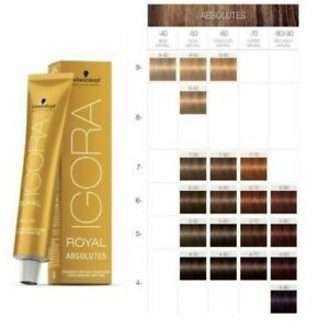 Schwarzkopf Igora Royal Absolutes Hair Color 60ml - IGORA ROYAL HAIR COLOUR
