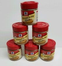 Pumpkin Pie Spice Lot of 6 Containers Fall Thanksgiving Recipes McCormick