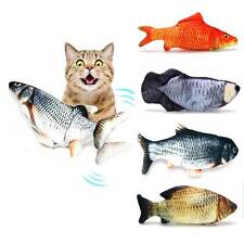 Plush Electric Doll Fish Dancing Moving Fish Funny Interactive Pets Cat Toys