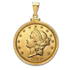 $20 Liberty Gold Double Eagle Pendant (Diamond-ScrewTop Bezel) - SKU #63485
